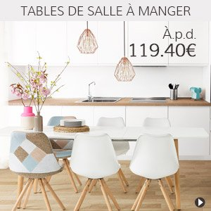 Meubles en soldes - Tables à manger - Alterego France