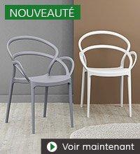 Nouveautes Alterego Design - Chaise de jardin JULIETTE