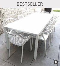 Table de jardin SAMUI et chaise de jardin JULIETTE et SISTER - Bestseller Alterego Design