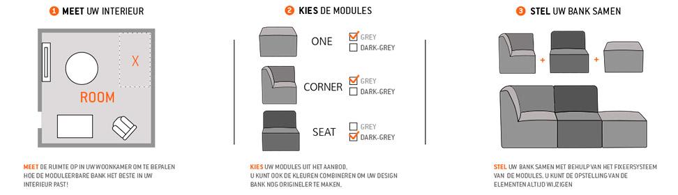 Kies uw Alterego Design moduleerbare zitbank